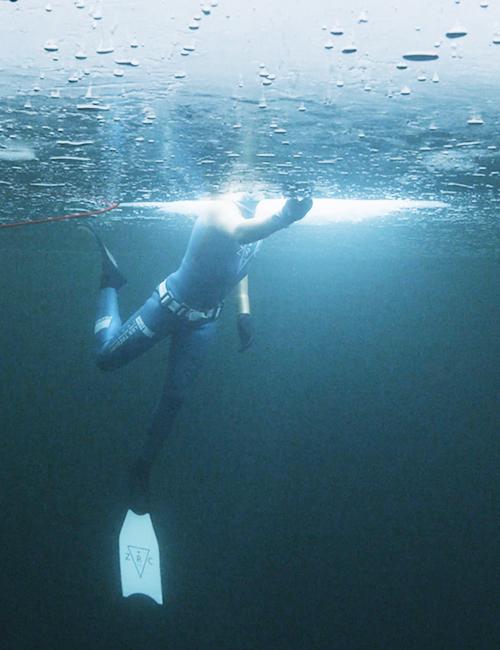 apnee sous glace